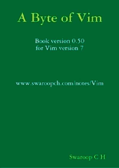 A byte of VIM (for VIM v.7)