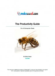 The Productivity Guide: For A Computer Geek