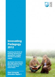 Innovating Pedagogy 2012