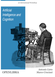 Artificial Intelligence and Cognition